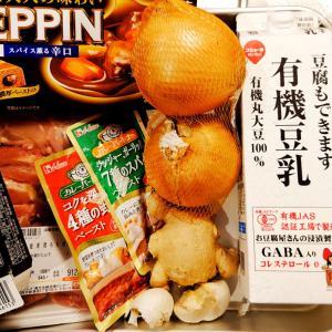 【おうちご飯】シャドークイーンとチキンの豆乳カレー