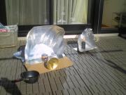 太陽光で加熱調理!ソーラークッカー