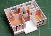 住宅模型をつくらんと!