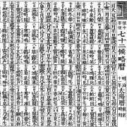 七十二候(しちじゅうにこう)