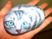 石に描いた猫