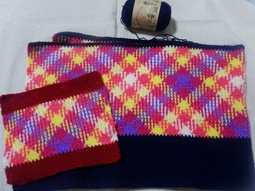 段染め糸を編む